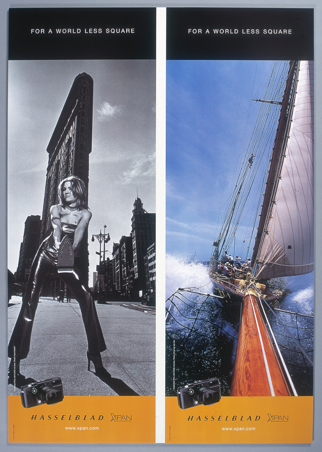 Alkuperäisen Hasselblad XPan -kameran mainoksia. Kuva: Hasselblad.