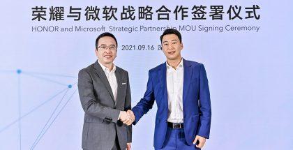 Honor allekirjoitti strategisen kumppanuuden Microsoftin kanssa.