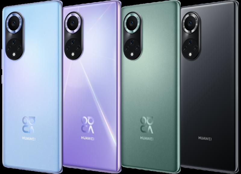 Nova 9 -puhelinten värivaihtoehdot. Kuvassa Nova 9 Pro.