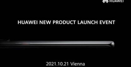 Huawein ilmoitus tulevasta lanseeraustilaisuudesta 21. lokakuuta.