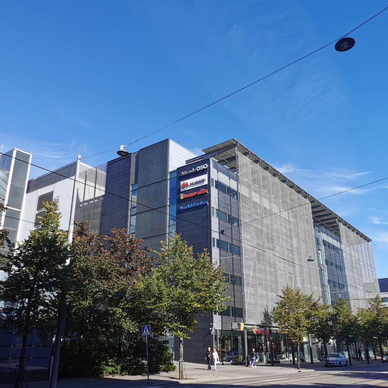 Huawein toimipiste Helsingin Ruoholahdessa.