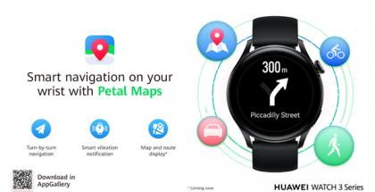 Petal Maps saapuu Huawei Watch 3 -kellojen osaksi.