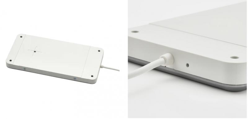 Ikea Sjömarke on pöytälevyn alle kiinnitettävä langattoman latauksen mahdollistava laite.