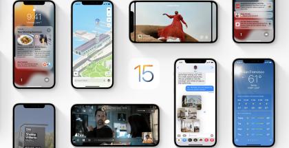 iOS 15:n uudistuksia, kuten uusi ilmoitusten yhteenveto, päivitetyt kartat, SharePlay, kuvista tekstiä tunnistava Live-tekstitoiminto sekä uudistunut Sää-sovellus.