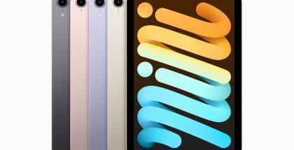 6. sukupolven iPad mini eri väreissä.