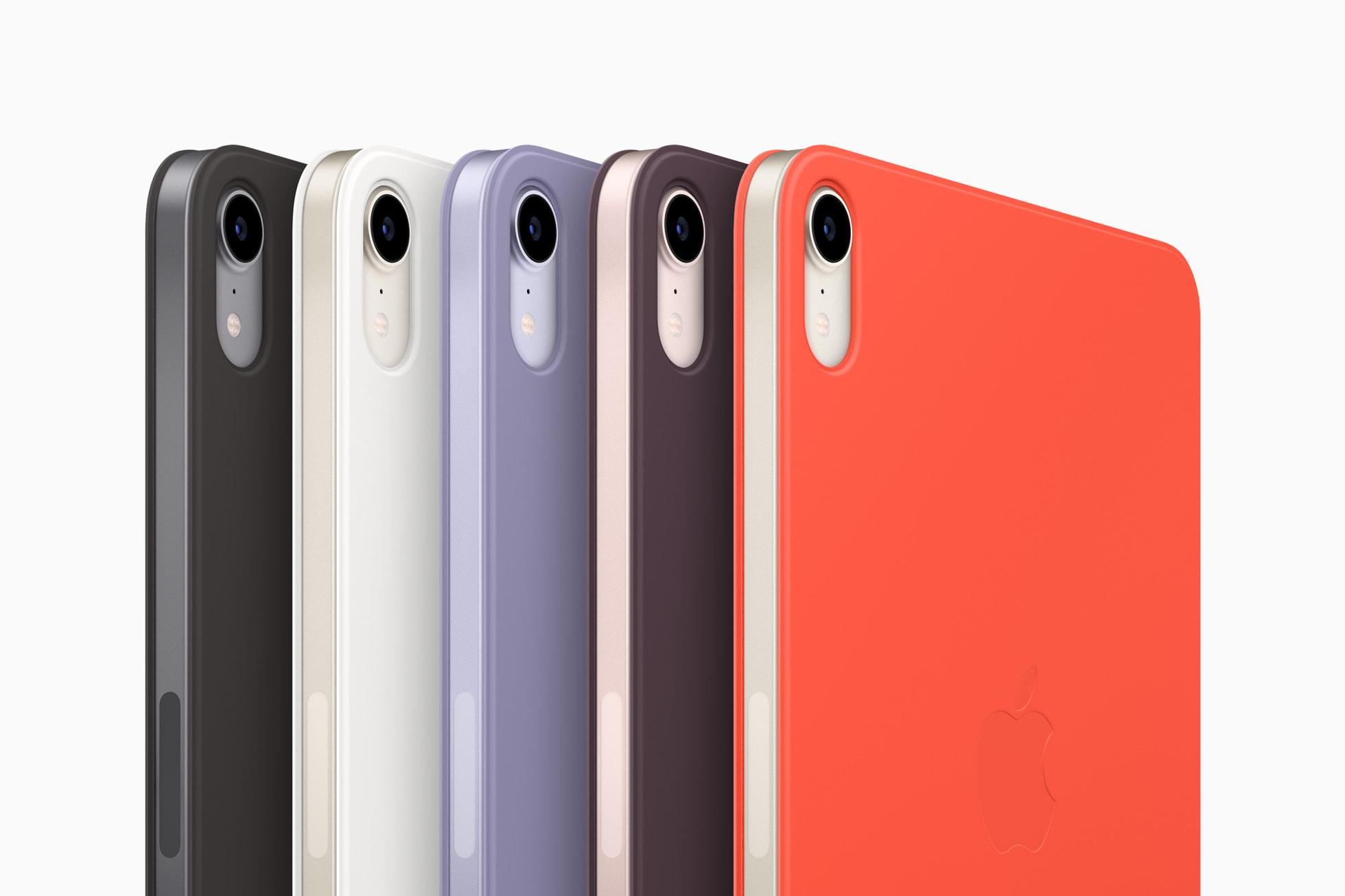 6. sukupolven iPad minin Smart Folion eri värit.