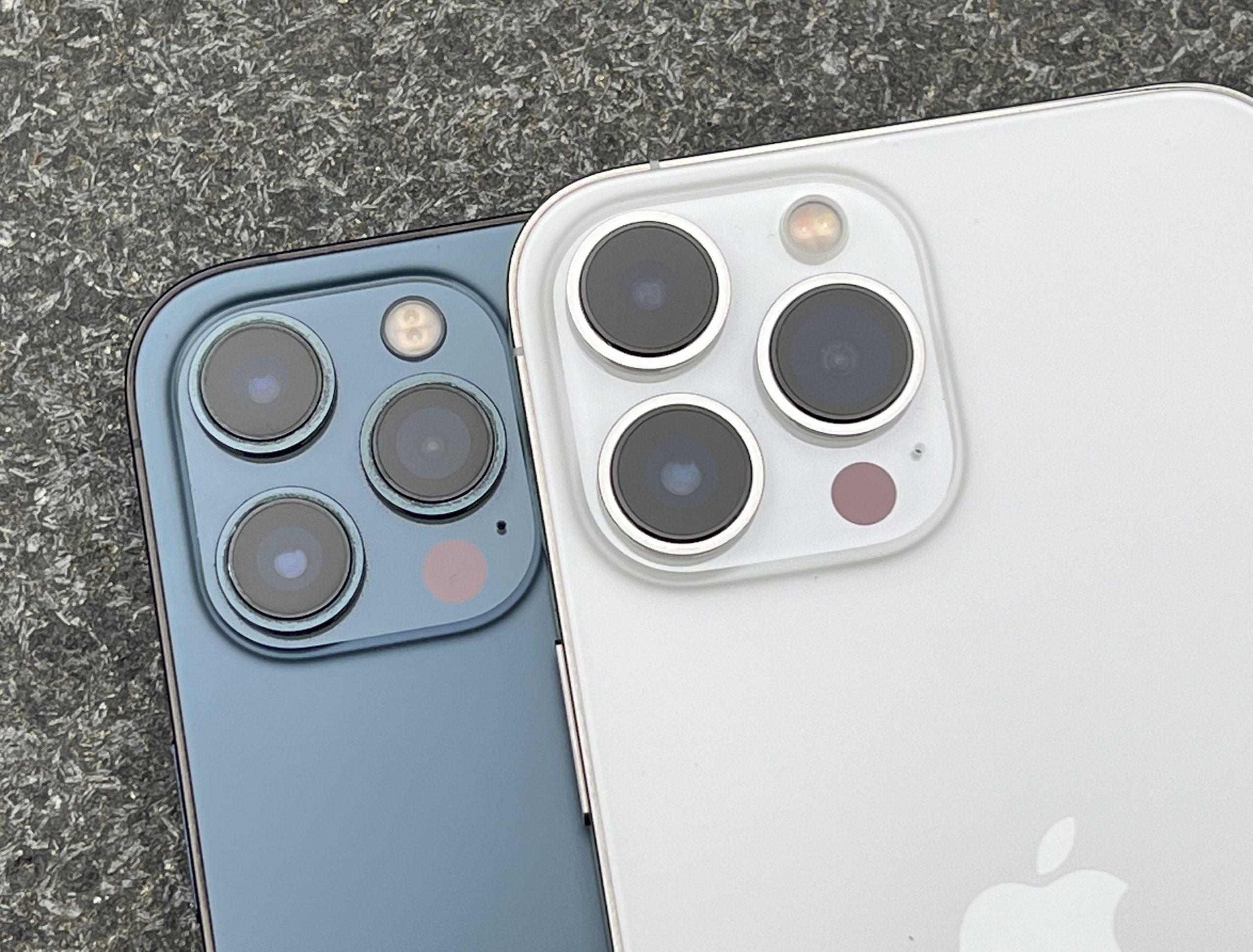 Kamerakohouma on kasvanut myös iPhone 12 Pro Maxia iPhone 13 Pro Maxiin vertailtaessa.