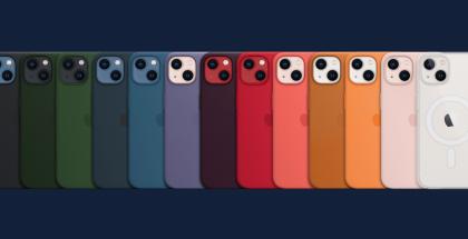 iPhone 13 -puhelinten suojakuorten eri värit.