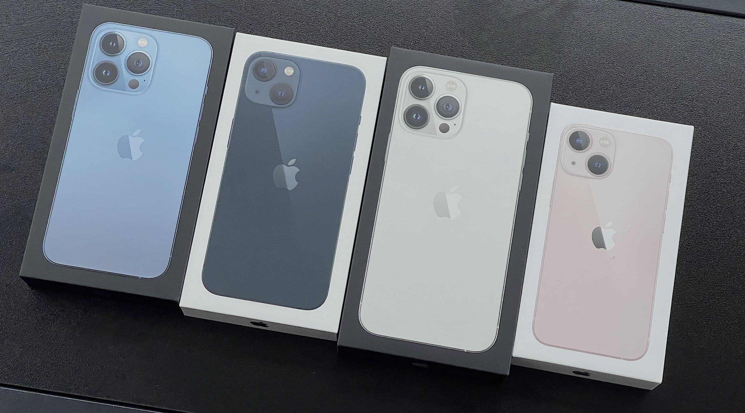 iPhone 13 -puhelinten myyntipakkausten päällä ei ole enää muovikääreitä.