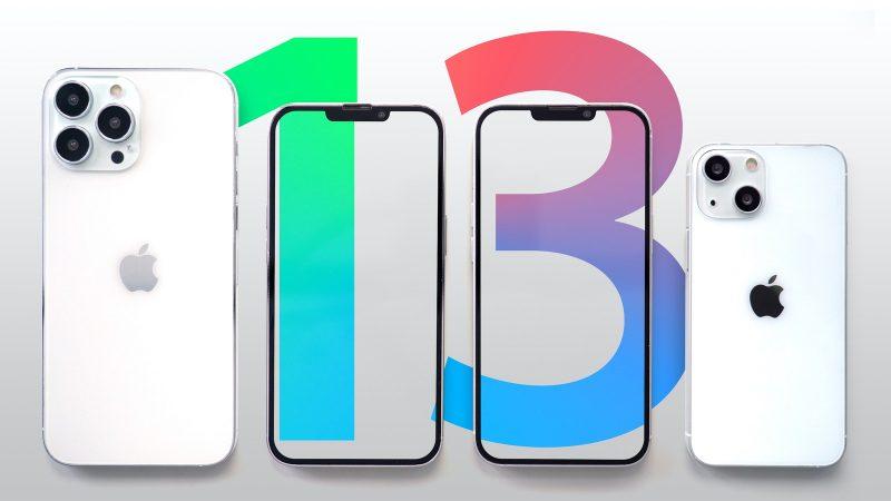 iPhone 13 Pro Maxin ja iPhone 13:n mallinnokset. Kuva: MacRumors.
