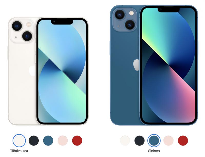 iPhone 13 mini ja iPhone 13.