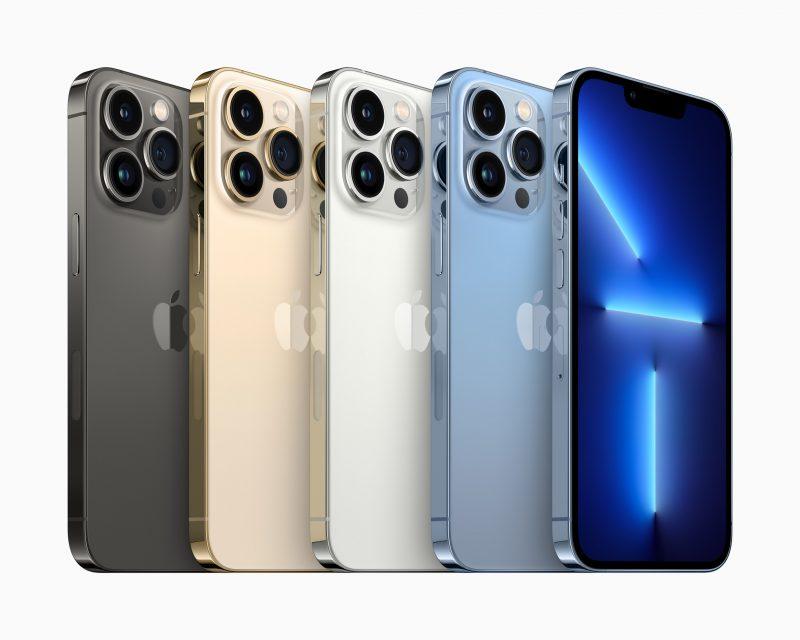 iPhone 13 Pro eri väreissä.