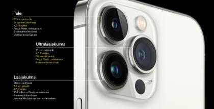 iPhone 13 Pro -mallien takakamerat.