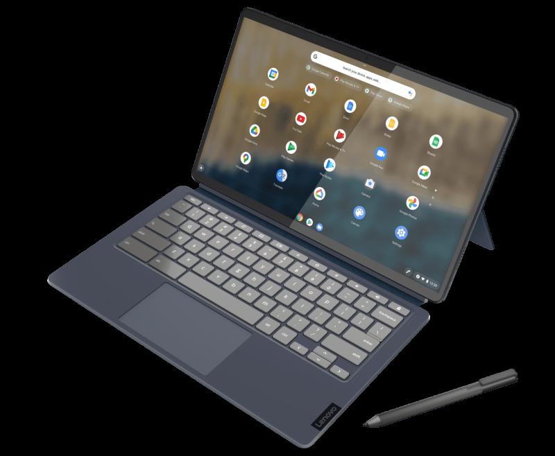 Lenovo IdeaPad Duet 5 näppäimistön kanssa.