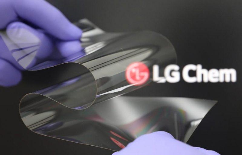 LG:n esittelyssä taipuva Real Folding Window -materiaaliratkaisu.