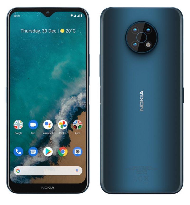 Nokia G50 edestä ja takaa.
