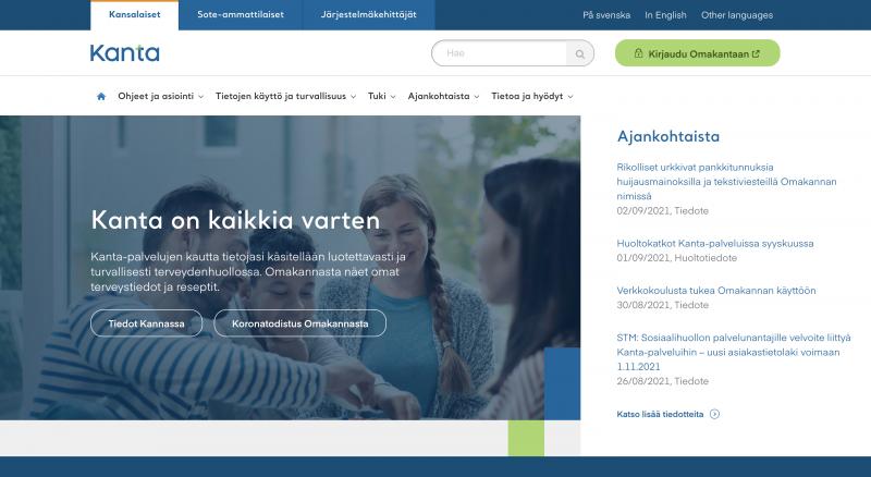 Aito kanta.fi-verkkosivu.