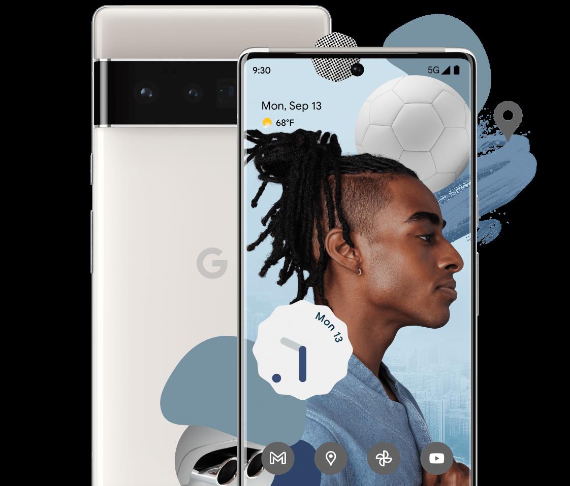 Pixel 6 Pro takaa ja edestä.