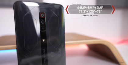 Takana Red Magic 6S Prossa on kolme kameraa.