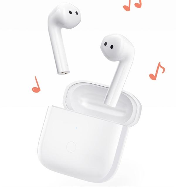 Redmi Buds 3 -kuulokkeet muistuttavat paljon Applen AirPods-kuulokkeita.