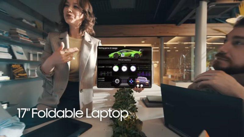 Kuvankaappaus Samsungin videolta. Esillä kuvassa konsepti.