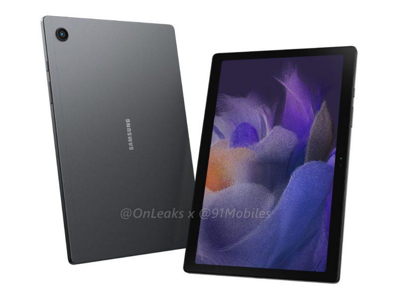 Samsung Galaxy Tab A8 2021. Kuva: OnLeaks / 91mobiles.