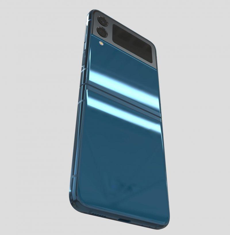 Samsung Galaxy Z Flip3 5G, Navy Blue. Kuva: Evan Blass / Twitter.