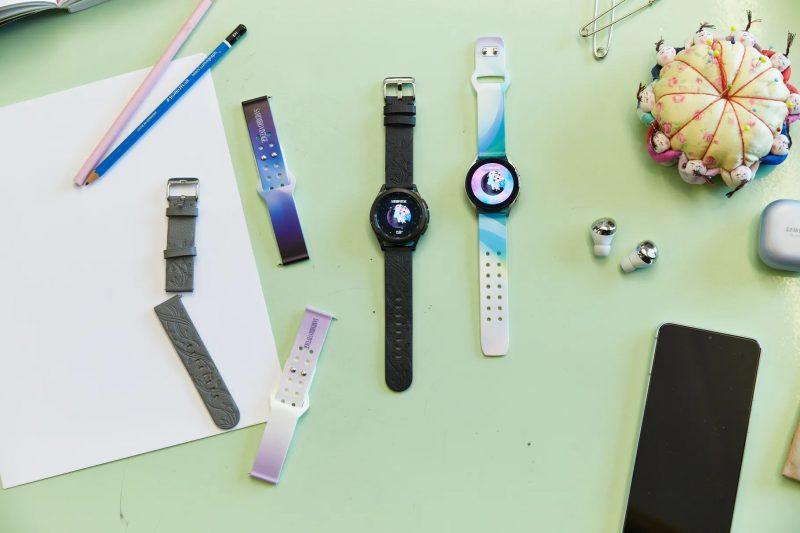 Samsungin Galaxy Watch4 -rannekkeita yhteistyössä muotisuunnittelija Sami Mirón kanssa.