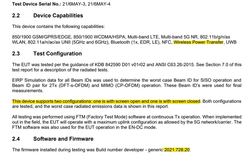 Surface Duo 2:n tietoja FCC-asiakirjasta.