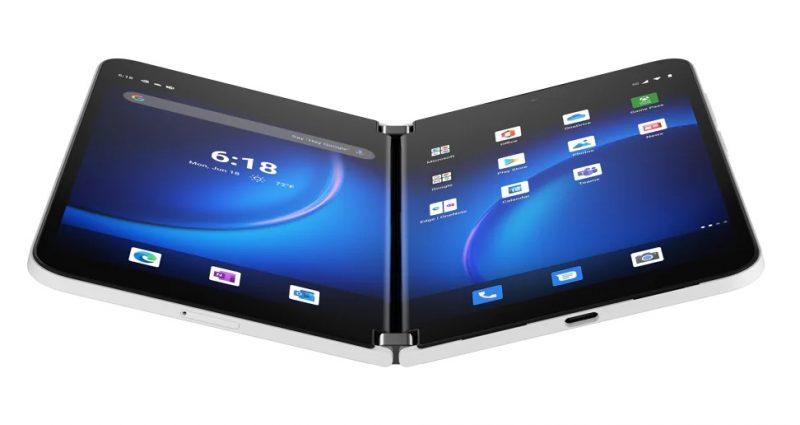 Surface Duo 2:n kaksi näyttöä muodostavat yhdessä 8,3 tuuman pinta-alan.