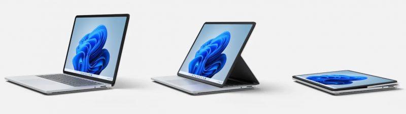 Surface Laptop Studion kolme käyttötilaa.