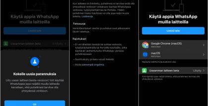 WhatsAppin monilaitetuki on nyt otettavissa käyttöön beetaversiona WhatsAppin asetuksista.