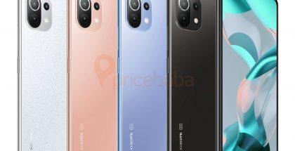 Xiaomi 11 Lite 5G NE eri väreissä. Kuva: Ishan Agarwal / Pricebaba.