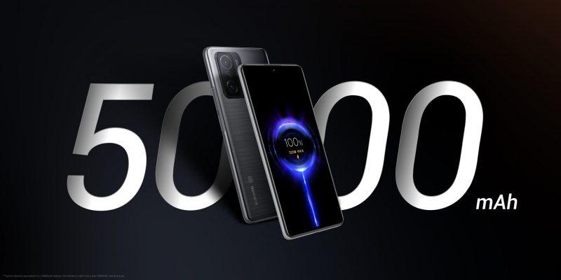 Xiaomi 11T -puhelimissa on 5 000 milliampeeritunnin akku.