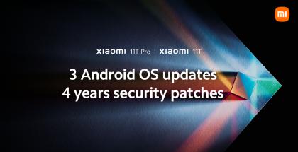 Xiaomi 11T ja 11T Pro saavat pidemmän päivitystuen.
