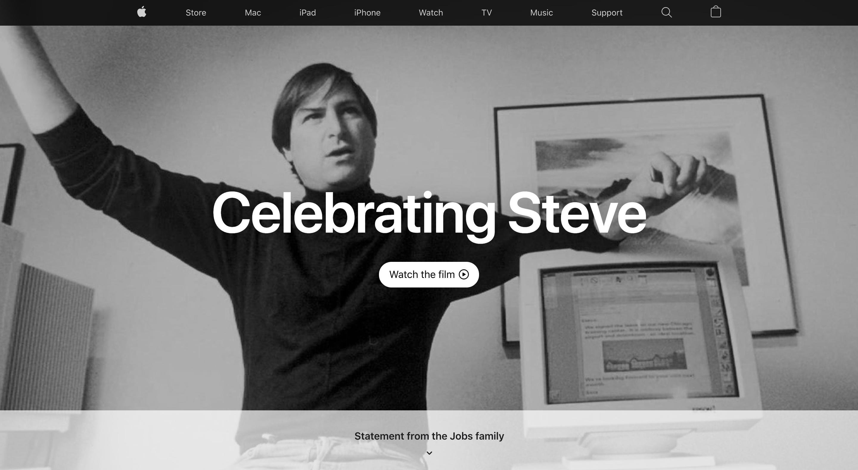 Apple.comissa muistellaan tänään Steve Jobsia.