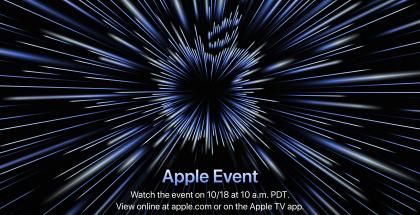 Applen ilmoitus julkistustapahtumasta 18. lokakuuta.