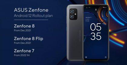 Asuksen ZenFone-puhelinten Android 12 -päivitysaikataulu.