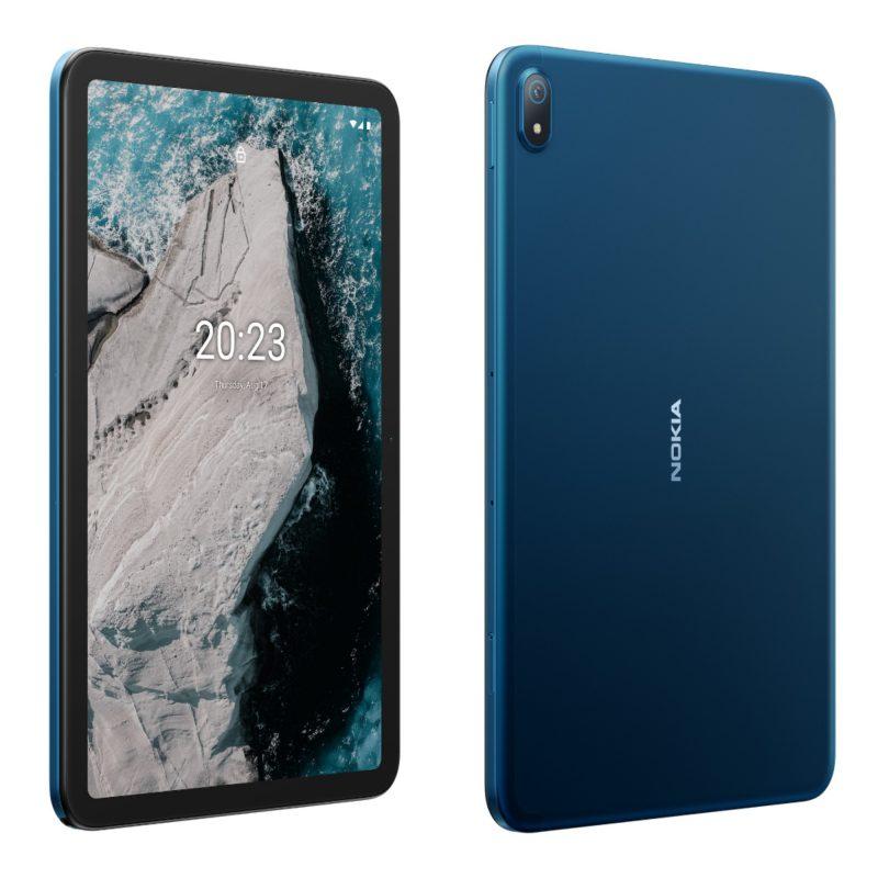 Nokia T20 edestä ja takaa.