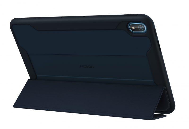 Nokia T20 Rugged Flip Cover -suojakuoren kanssa.
