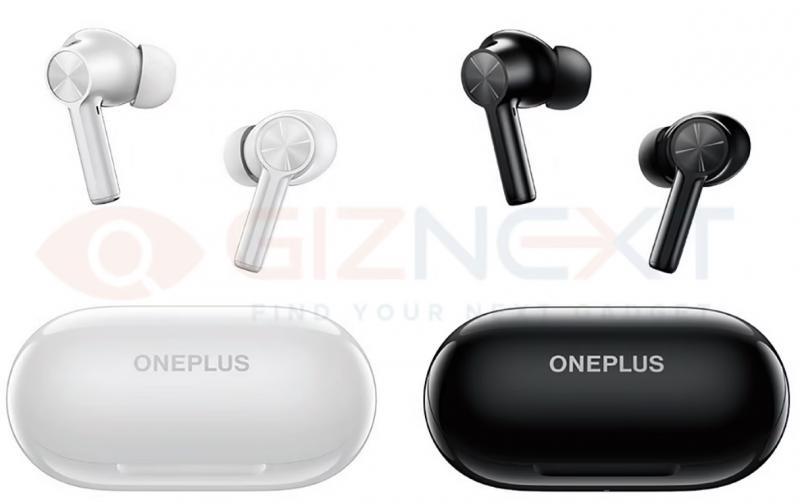 OnePlus Buds Z2 -kuulokkeet ovat tulossa valkoisena ja mustana. Kuva: GizNext.