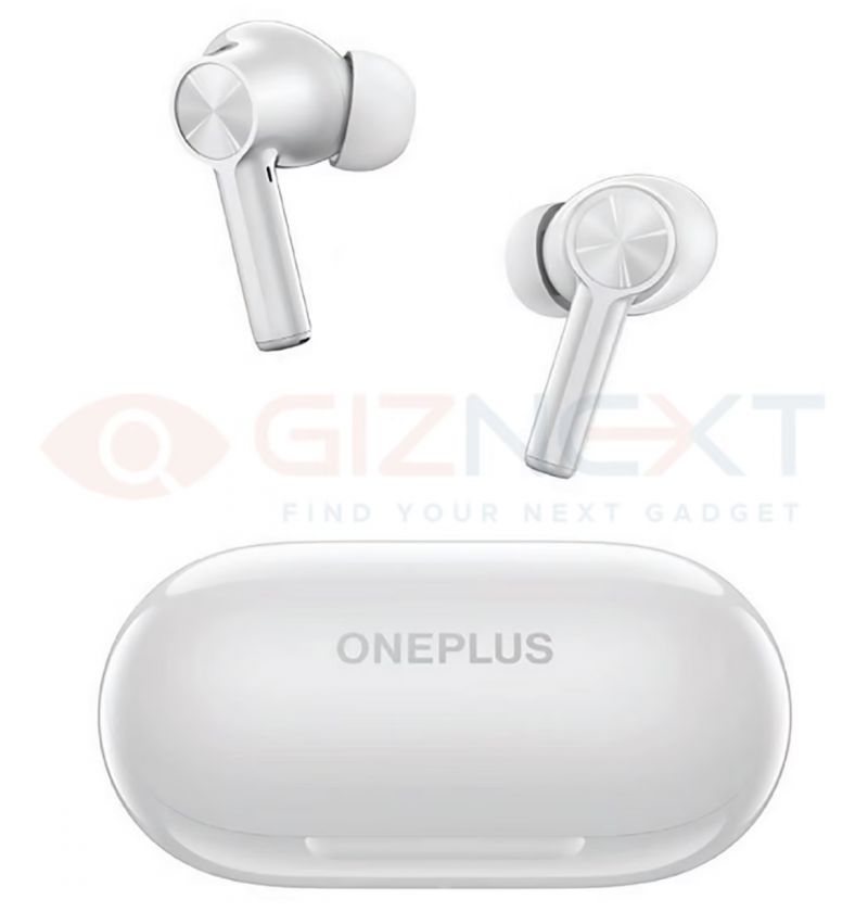 OnePlus Buds Z2 -kuulokkeet valkoisena. Kuva: GizNext.