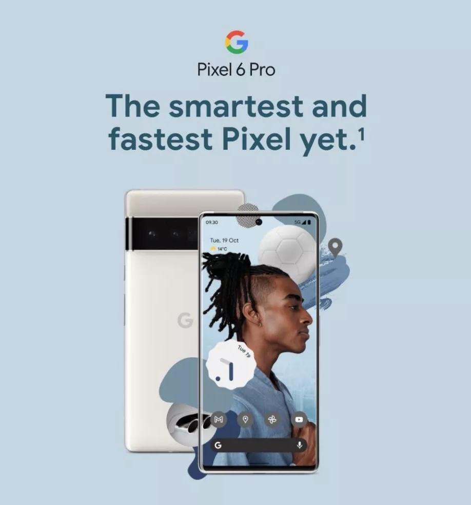 Pixel 6 Pro on toistaiseksi älykkäin ja nopein Pixel, kertovat Carphone Warehousen paljastamat markkinointimateriaalit.