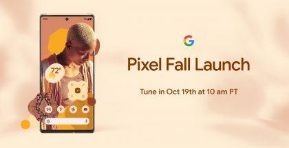 Googlen ilmoitus lanseerauksesta 19. lokakuuta.