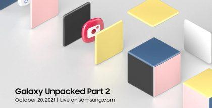 Samsung järjestää Galaxy Unpacked Part 2 -tilaisuuden 20. lokakuuta.