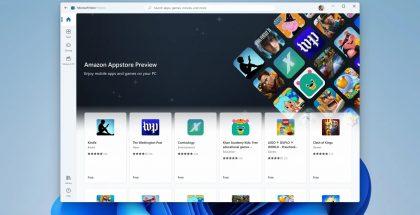 Testaajille on tarjolla aluksi erittäin rajattu sovellusvalikoima Amazon Appstoresta.
