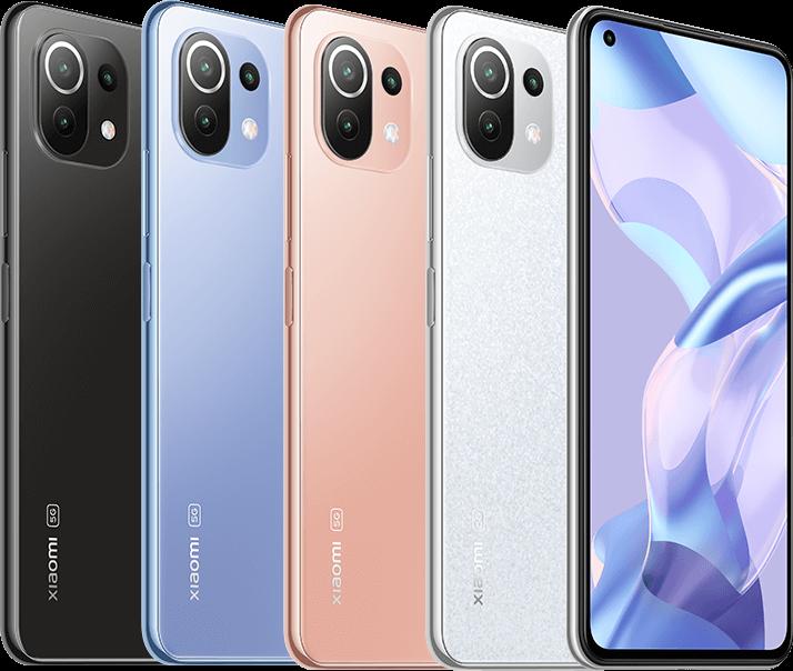 Xiaomi 11 Lite 5G NE eri väreissä.